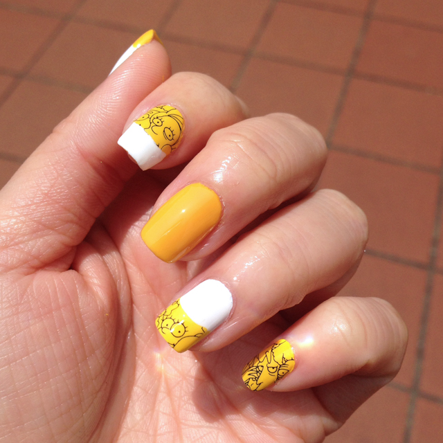 MAC x The Simpsons Nail Stickers NOTD