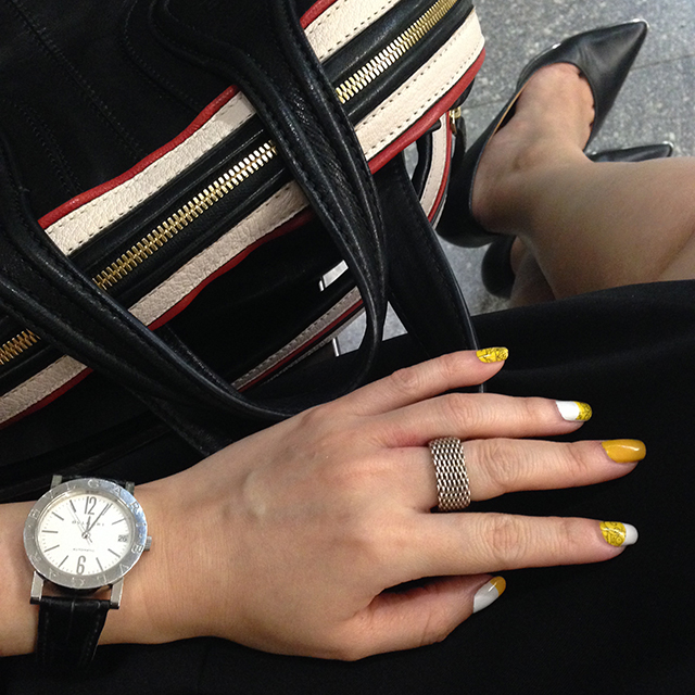 MAC x The Simpsons Nail Stickers OOTD