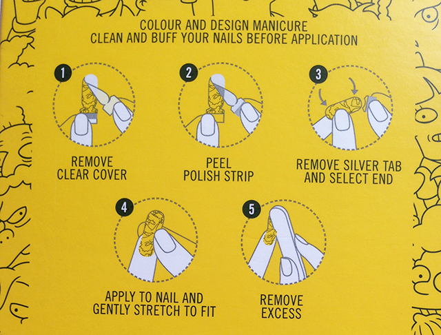 MAC x The Simpsons Nail Stickers application instructions