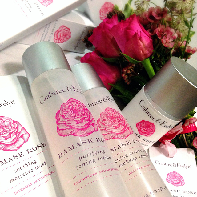 Crabtree & Evelyn Damask Rose skincare collection IG