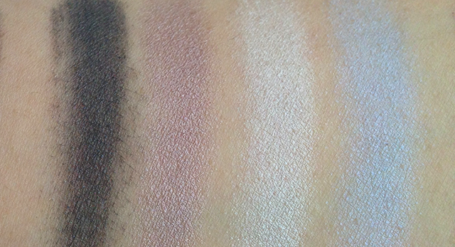 Shu Uemura x Karl Lagerfeld Holiday 2014 Shupette Has-It-All Palette left quad swatches