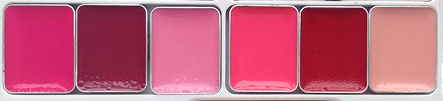 Shu Uemura x Karl Lagerfeld Holiday 2014 Shupette Has-It-All Palette lip colors