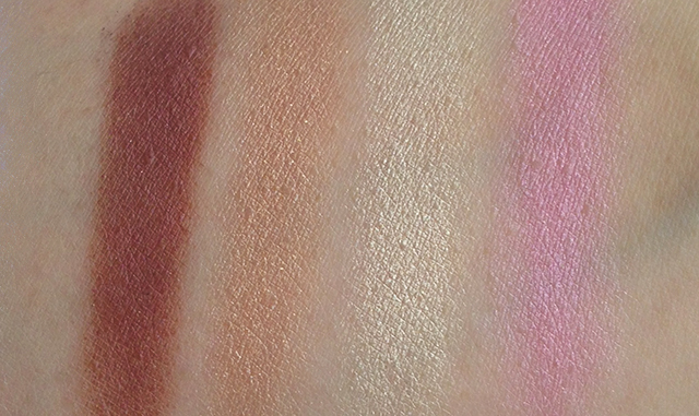 Shu Uemura x Karl Lagerfeld Holiday 2014 Shupette Has-It-All Palette right quad swatches