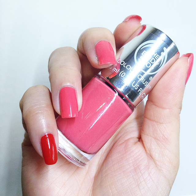The Body Shop Colour Crush Nail Polish - Rosy Cheeks swatch