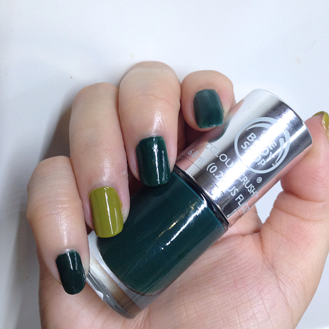 The Body Shop Colour Crush Nail Polish - The Body Shop Green swatch