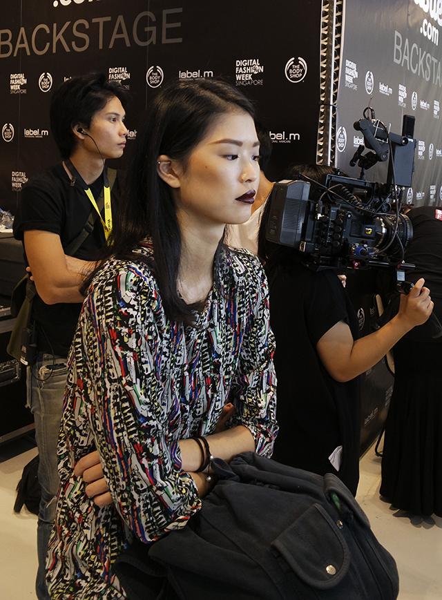 Digital Fashion Week: Burgundy lips at Toscano