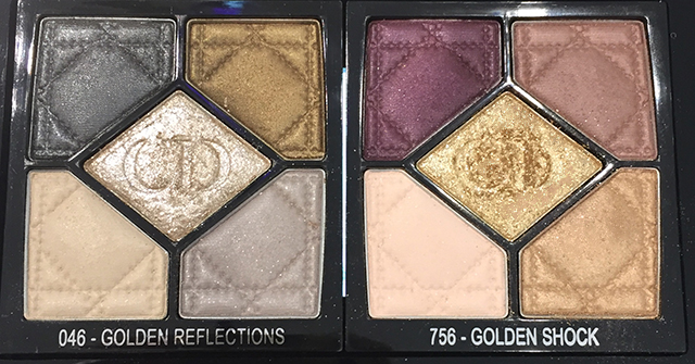 Dior Golden Shock palettes display