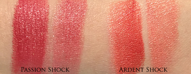 Diorific Golden Shock Lip Colour Duo swatches Passion Shock Ardent Shock