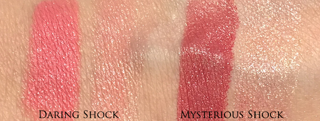 Diorific Golden Shock Lip Colour Duo swatches Daring Shock Mysterious Shock