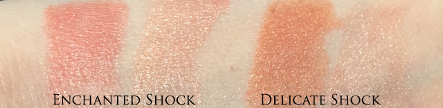 Diorific Golden Shock Lip Colour Duo swatches Enchanted Shock Delicate Shock