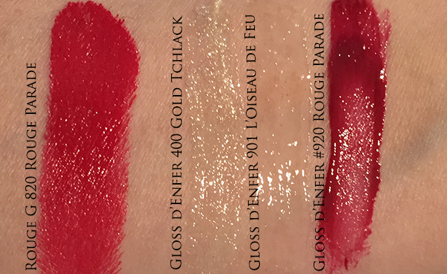 Guerlain Holiday 2014 Rouge G Gloss d'enfer swatches