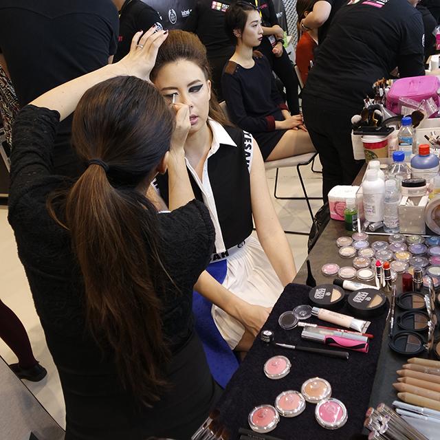 Lan at work at Digital Fashion Week