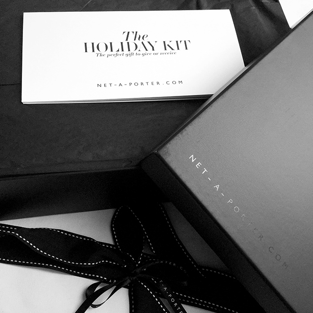 Net-a-Porter The Holiday Kit packaging