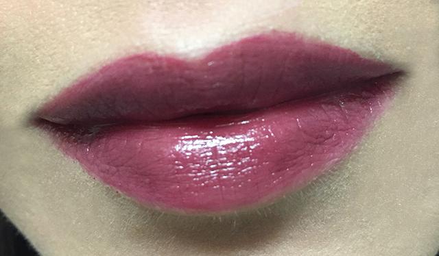 Surratt Lipslique Peccadille lip swatch