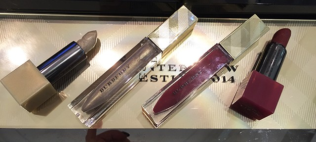 Burberry Winter Glow Collection lip products