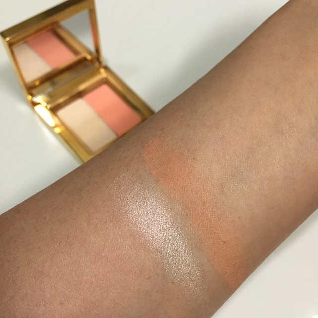 MAC x Prabal Gurung Satin Ochre Eyeshadow Duo swatches