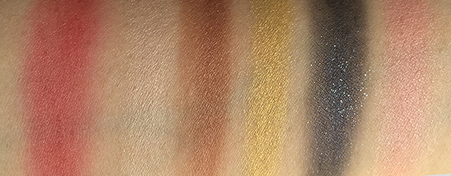 Shiseido Sparkling Party Palette swatches