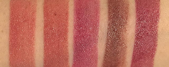 Tom Ford Lips and Boys Collin, Cary, Didier, Guillermo, Wes swatches