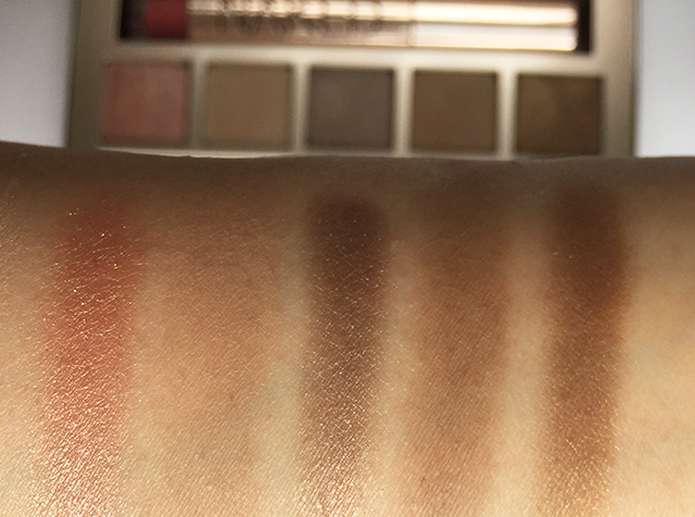 Urban Decay Naked On The Run eyeshadow swatches