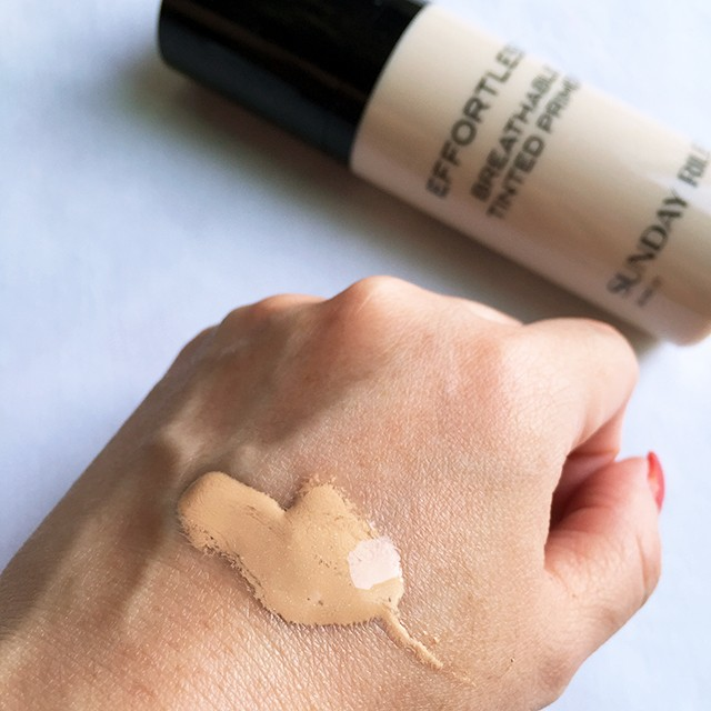 Sunday Riley Effortless Breathable Tinted Primer swatch
