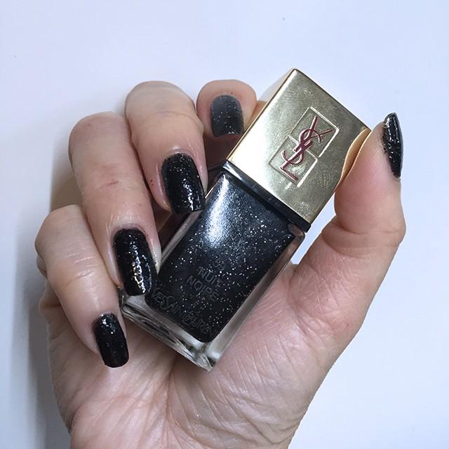 YSL La Laque Couture 59 Nuit Noire swatch