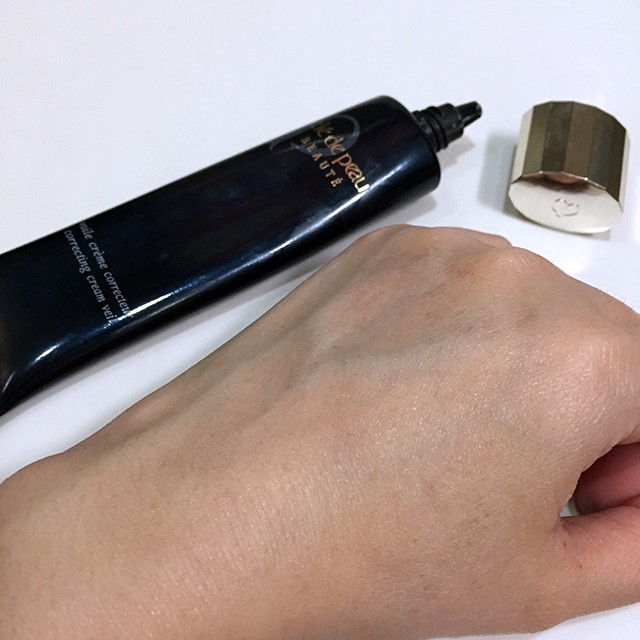 Cle de Peau Correcting Cream Veil fully blended swatch