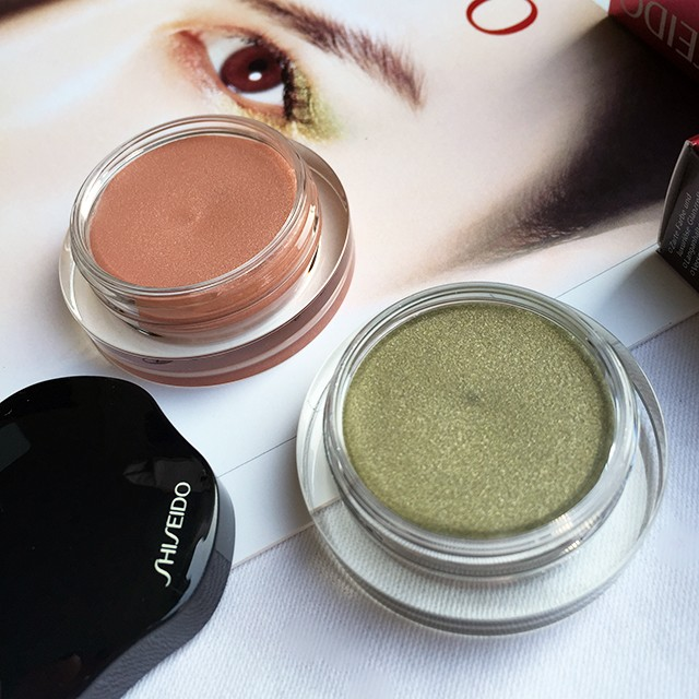 Shiseido Shimmering Cream Eye Color in Mousseline and Naiad