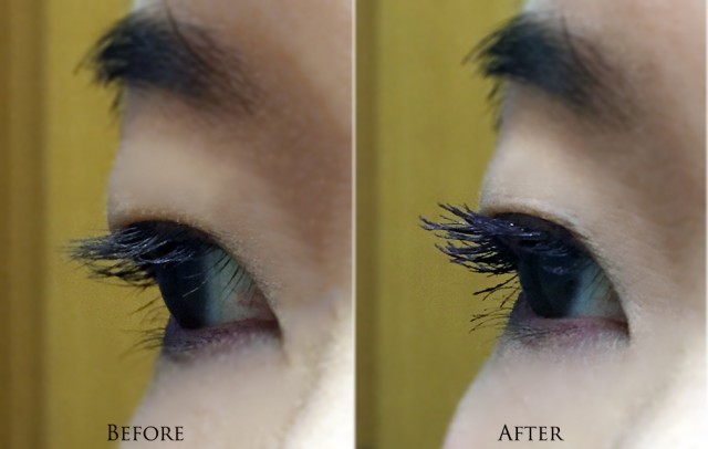 Tom Ford Black Plum Extreme Mascara before after