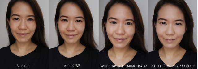 Estee Lauder Crescent White Makeup step-by-step comparison