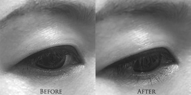 Estee Lauder Little Black Primer effect on lower lashes