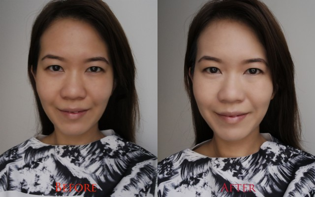 Estee Lauder Perfectionist Youth-Inducing Makeup before after
