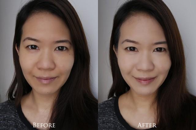 Estee Lauder Re-Nutriv Ultra Radiance Makeup before after comparison