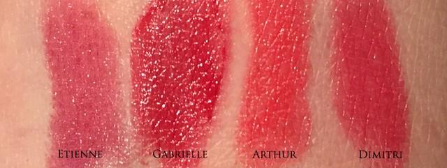 Chanel Coco Rouge swatches Etienne Gabrielle Arthur Dimitri