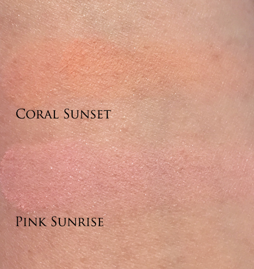 Swatches of Dior Tie Dye Coral Sunset Pink Sunrise