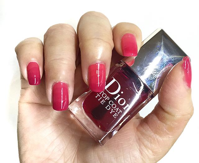 Dior Vernis Tie Dye Top Coat nail swatch