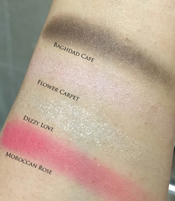 Addiction eyeshadow swatches