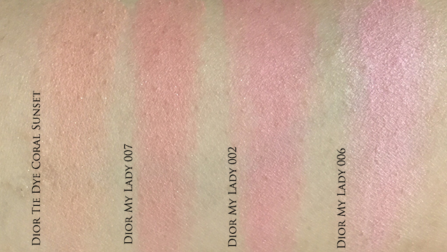 Dior My Lady comparison swatches