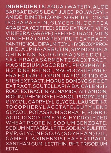 Radical Skincare Firming Neck & Decollete Gel ingredients