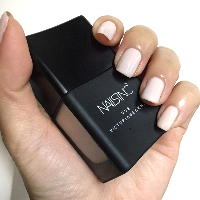 Victoria Victoria Beckham x Nails Inc Bamboo White nail swatch
