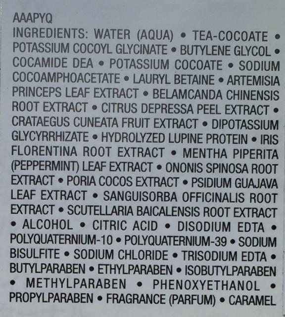 Albion Excia Circulating Essence Foam ingredients