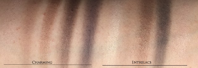 Chanel Charming vs Entrelacs swatches