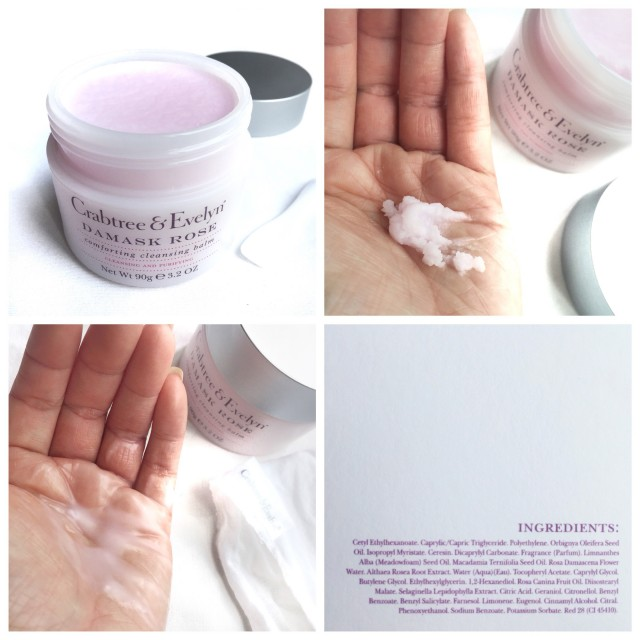 Crabtree Evelyn Damask Rose Comforting Cleansing Balm