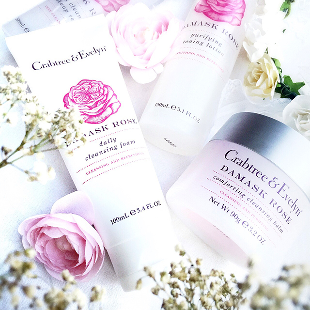 Crabtree Evelyn Damask Rose Comforting Cleansing Balm & Foam