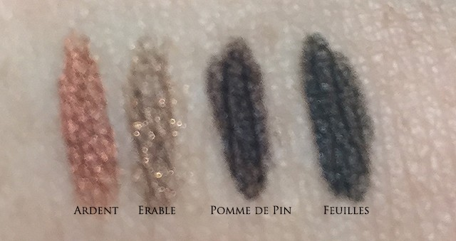 Chanel Stylo Yeux FW2015 swatches