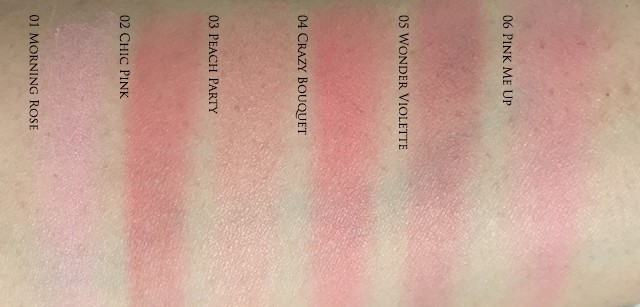 Guerlain Rose Aux Joues tender blush swatches