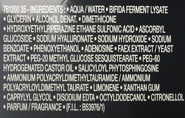 Lancome Advanced Genifique ingredient list