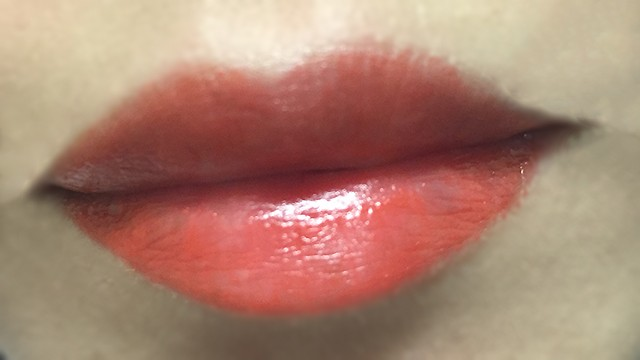 Shu Uemura Rouge Unlimited Avenue Sunset lip swatch