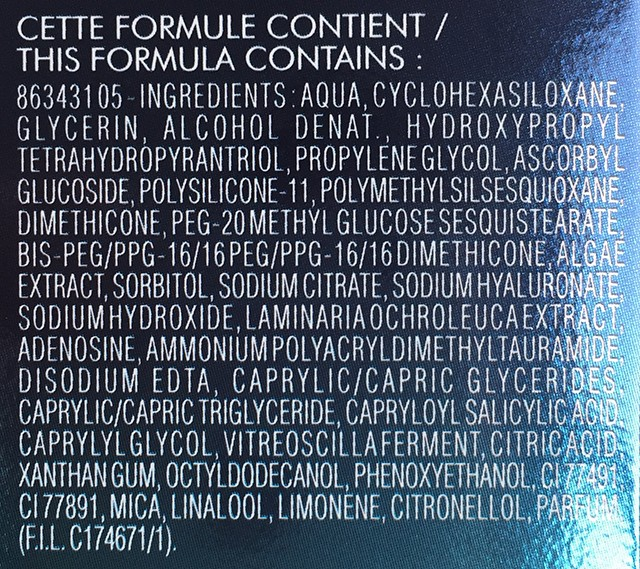 Biotherm Blue Therapy Accelerated ingredients