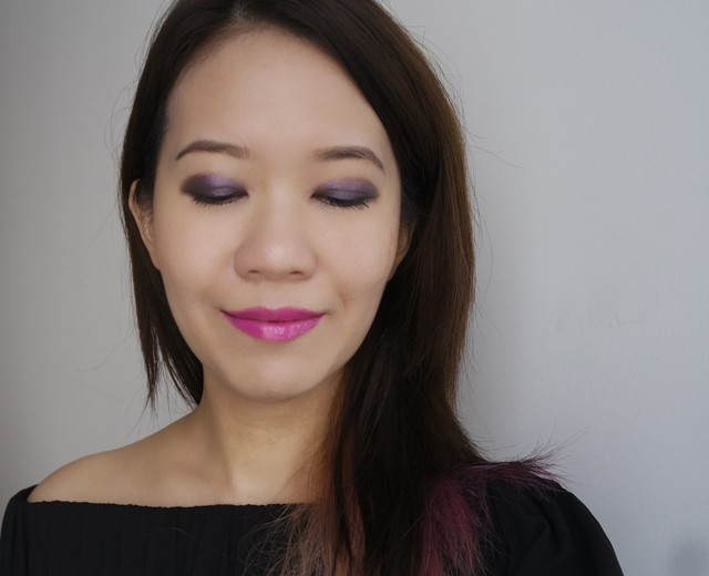 Makeup look featuring Estee Lauder Pure Color Envy Eye Defining Singles Infamous Orchid & Ominous