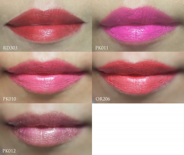 Etude House Bling Me Prism Colour in Liquid Lips full lip swatches